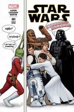Star Wars #1 Party Variant with Jaxxon – Exclusive! - http://videogamedemons.com/movie-news/star-wars/star-wars-1-party-variant-with-jaxxon-exclusive/