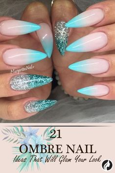 To help you look glamorous, we have found 21 pictures of beautiful nails. ★ See more: http://glaminati.com/ombre-nails-designs/?utm_source=Pinterest&utm_medium=Social&utm_campaign=FI-ombre-nails-designs-19-21072016
