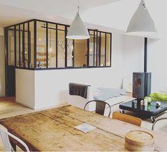 Rénovation d'une maison contemporaine à Grenoble par l'agence EntreLesMurs - Verrière d'atelier