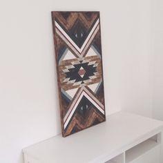 Wanddeko - Holzbild - Ethno Azteken Muster - ein Designerstück von Holzdurchflutung bei DaWanda
