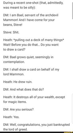 Dnd Stories, Funny Stories, Funny Quotes, Funny Memes, Hilarious, Deck Of Many Things, Collateral Beauty, Dungeons And Dragons Game, Dnd Funny