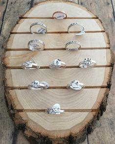 Ring display, natural wood ring display, handmade ring display, jewelry display