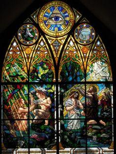 Sts. Anne and Joachim Catholic Church, Fargo, North Dakota, glass designed by Conrad Pickel Studios.