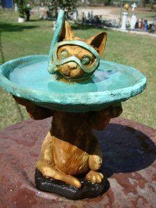 Concrete Statue In Water,garden Decoration,lagoon | Concrete Statues Cat |  Pinterest | Concrete Statues
