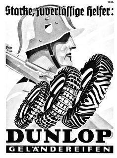 1936. German Dunlop Tyre advert