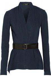 Donna KaranBelted stretch linen-blend jacket