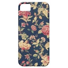 Elegant Vintage Floral Rose iPhone Case iPhone 5 Cover