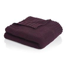 Wilko plum knitted throw 127 x1 52 £20.00