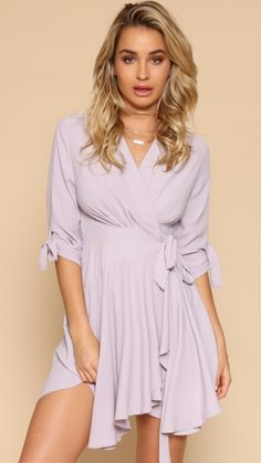 Young Folks Dress in Lilac
