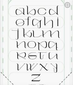 109 Best Calligraphy Fonts Alphabet   images in 2018 | Calligraphy