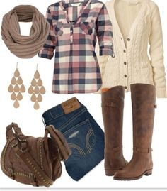 The cowgirl ish style = fall for me! Such a sexy and relax outfit that can be worn for school or for a nice day outside :)