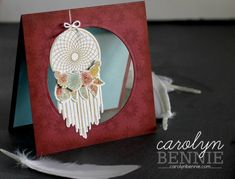 Follow Your Dreams from Stampin' Up! by Australian Stampin' Up! Demonstrator Carolyn Bennie carolynbennie.com 50th Birthday Cards, Happy 2nd Birthday, Handmade Birthday Cards, 50 Birthday, Dream Video, Beautiful Dream Catchers, Feather Cards, Feather Dream Catcher, Stampin Up Catalog