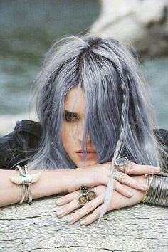 Sliver blue hair