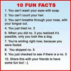 Totally So True | 10 Fun Facts