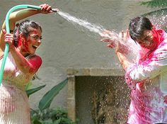 Image about happy in Holi Festival of Colours by Juli Holi Greetings, Greetings Images, Holi Painting, Happy Holi Photo, Festival Paint, Holi Special, Summer Special, Happy Holi Images, Holi Party