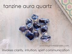 TANZINE AURA QUARTZ is said to help develop latent #psychic abilities and to aid #communication with the spirit realm. #crystals #healing