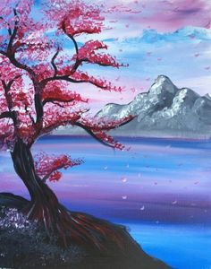 Join us for a Paint Nite event Mon Nov 2016 at 1393 Boardman Canfield Rd Boa. - Join us for a Paint Nite event Mon Nov 2016 at 1393 Boardman Canfield Rd Boardman, OH. Easy Canvas Painting, Acrylic Painting Tutorials, Canvas Art, Cherry Blossom Painting, Pastel Art, Tree Art, Japanese Art, Painting Inspiration, Landscape Paintings