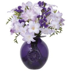 Dartington Crystal Flower Globe Anemone/Amethyst Vase ($60) ❤ liked on Polyvore featuring home, home decor, vases, flowers, fillers, other, amethyst, decor, hand blown vase and handmade home decor