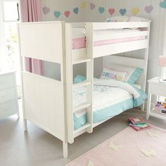 Islander Bunk - This lovely furniture can be adapted to suit a boy's or girl's bedroom; the tongue and groove detail adds a unisex touch to the painted white finish. It will last a lifetime too, because it is made from solid rubberwood and crafted with traditional techniques for strength and durability.