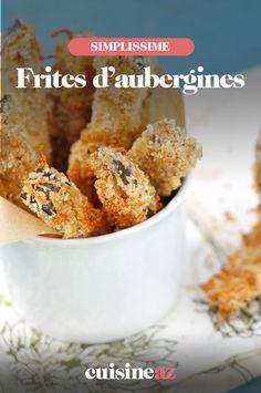 Une recette originale de frites de légumes à base d'aubergine. #recette#cuisine #frite #legume #aubergine #fritesdaubergine Cereal, Breakfast, Food, Fried Vegetables, Original Recipe, French Fries, Morning Coffee, Essen, Meals
