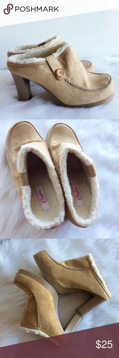 Candie's Suede Leather Mules ⚪️Preloved FABULOUS shoes ⚪️Size 10 Candie's Shoes Mules & Clogs