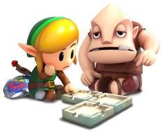 Link & Dampé Designing Dungeon Art - The Legend of Zelda: Link's Awakening Art Gallery The Legend Of Zelda, Legend Of Zelda Characters, Super Smash Bros, Game Character Design, 3d Character, Modelos 3d, Mini Games, Dark Horse, Game Art