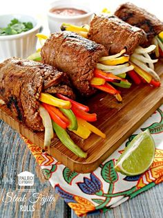 Paleo Steak Fajita Roll recipe - www.PaleoCupboard.com