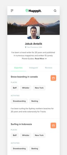 Travel Advisor Profile – Responsive