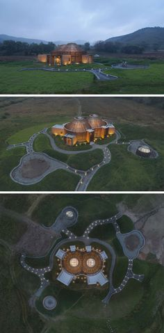 Architecture firm HDD have designed the Mulan Weichang Visitors Centre, that's located in China, and whose shape is inspired by yurts. Cabinet D Architecture, Chinese Architecture, Amazing Architecture, Architecture Details, Landscape Architecture, In China, Big Building, Building Design, Tourist Information
