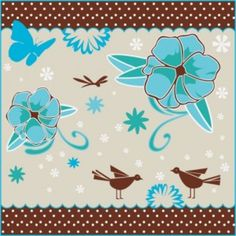 Decoupage Scrapbooking Blumen Vögel Silhouette Hintergrund Kostenlose Vektoren