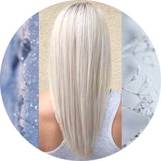 Awesome icy blonde hair color.