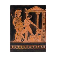 Hand made painting in wood with red figure theme Greek History, How To Make Paint, Acrylic Colors, Under Construction, Museum, Paintings, Wood, Handmade, Art