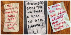 "The Internet Can't Get Enough of This Dad's Hilarious ""Napkinisms"" Stupid Funny, Funny Cute, Funny Texts, The Funny, Funny Jokes, Hilarious, Quality Memes, Funny Text Messages, Funny Pins"