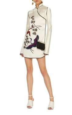 Elena Silk Kimono Dress With Embroideries by Attico