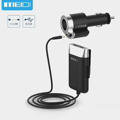 Sale US $11.89  MEIDI USB Car Charger 5 Ports & Cigarette Lighter Adapter With 2M Cable for MPV Car Mobile Phone  for Universal Portable