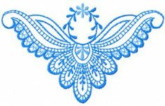 blue rhapsody free embroidery design. Machine embroidery design. www.embroideres.com