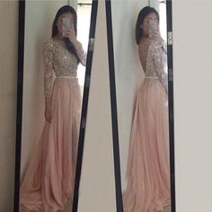 Blush Pink Prom Dresses, Long Sleeves Evening Dresses,Long Party Dress, Backless Prom Dresses, Lace Prom Dress, Prom Dress,SP31 sold by Simibridaldress. Shop more products from Simibridaldress on Storenvy, the home of independent small businesses all over the world.
