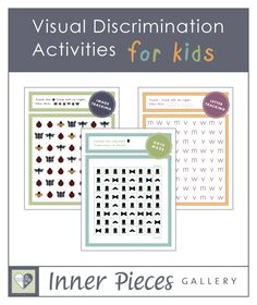 Visual Discrimination Activities for Kids. Grid mazes, image tracking and letter tracking all build visual discrimination skills while strengthening visual tracking skills, essential for reading.