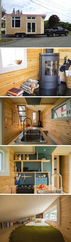 The Harmony House: a tiny house on wheels that's well-insulated and can withstand a cold, Canadian winter.