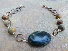 Natural Fancy Jasper and Copper Bracelet by GypsyDreamerCafe, $14.50