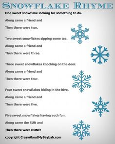 Snowflake Rhyme 819x1024 25 Winter and Christmas Crafts for Kids | Week 4