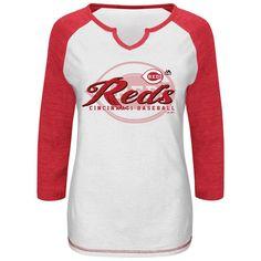 Ladies 3/4 Sleeve Cincinnati Reds Tee