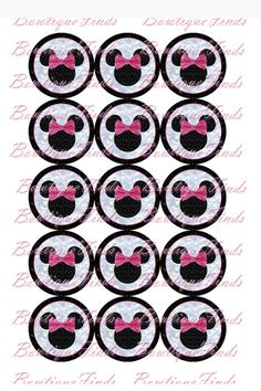 YOU CHOOSE. Minnie Mouse Digital Images 15 per by BowtiqueFinds, $1.50