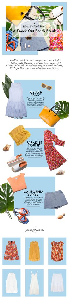 MAX&Co. How To Pack For - A Knock Out Beach Break - Looking to rule the…
