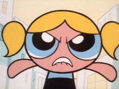 """Bubbles is tired of being the cute and wants to be """"hard-core,"""" but she takes it a little too far. Cartoon Sketches, Cartoon Icons, Power Puff Girls Bubbles, Icons Tumblr, Stickers Cool, Super Nana, Powerpuff Girls Wallpaper, Ppg And Rrb, Cartoon Profile Pictures"""