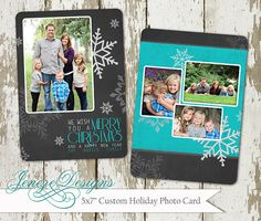Christmas Card  5x7 Snowflake  Holiday Photo Card  Item by Jeneze, $12.00
