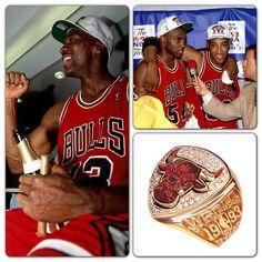 Michael Jordan, Scottie Pippen & Horace Grant celebrated the Chicago Bulls' championship No. 3 on 06.20.1993. #winning #threepeat