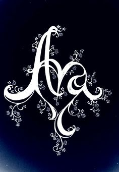 Tattoo I drew of my daughter's name Ava that I never got done