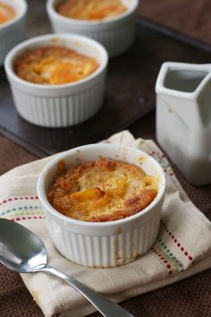 Grain-Free Peach Cobbler (Paleo, GAPS) : Oven Love - really good flavor, but the cakey part didn't stay together and got too wet... Maybe try pouring out a little of the butter and draining the peaches better. Also had to cook it longer, even in a muffin tin.