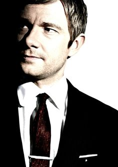 Oh, there's the suave seriousness. Actually didn't plan that. Really though, 99.9998% of the time Martin Freeman is totally cuddly and adorable.